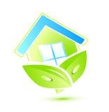 maison verte Images libres de droits