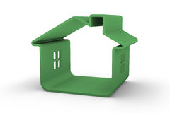 maison verte Photo stock