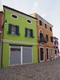 Maison verte Burano images libres de droits