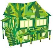 Maison verte d'écologie illustration stock