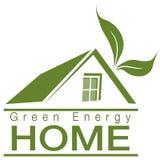 Maison verte d'énergie Images libres de droits