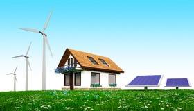Maison verte d'énergie Photographie stock libre de droits