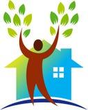 Maison verte d'environnement illustration de vecteur