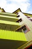 maison verte de couleur Image libre de droits