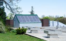 maison verte de toit du Michigan première Photos libres de droits