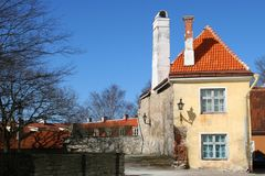 maison vieux Tallinn de l'Estonie Photo stock