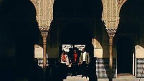 Maison vraie d'Alhambra à Grenade clips vidéos