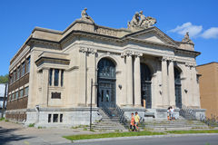 Maisonneuve public bath. MONTREAL QUEBEC CANADA JULY 31 2016: Maisonneuve public bath and gymnasium was designed by architect Marius Dufresne, who created a Royalty Free Stock Photography