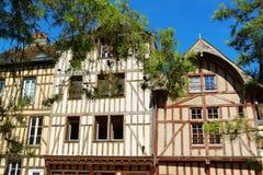 Maisons à colombage à Troyes, France Photos libres de droits