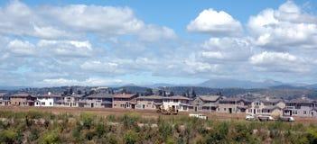Maisons étant construites Photographie stock libre de droits