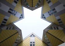 Maisons 3 de cube Image libre de droits