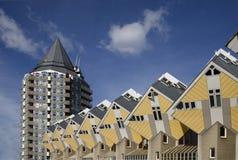 Maisons 6 de cube Photo libre de droits