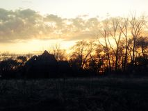 Maisons abandonnées Photographie stock