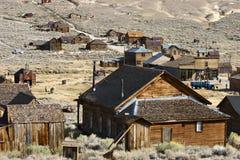 Maisons abandonnées dans une ville fantôme Images libres de droits