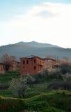 Maisons abandonnées de brique de boue Images libres de droits
