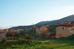 Maisons abandonnées de brique de boue Photos stock
