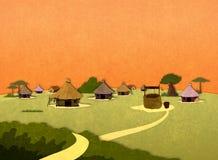 Maisons africaines de village Photos stock
