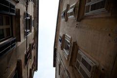Maisons anciant de Zadar Image libre de droits