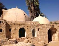 Maisons arabes traditionnelles dans le désert de Nagev Image libre de droits