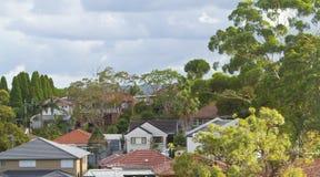 Maisons australiennes Photo libre de droits