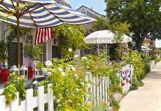 Maisons avec du charme, plage d'île de balboa, Newport Photos libres de droits
