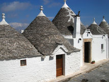 Maisons blanches Photo stock
