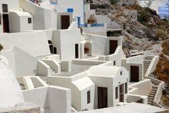Maisons blanches dans Santorini, Grèce Photos stock