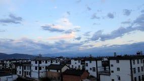 Maisons blanches locales en Dali Photo libre de droits