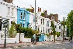 Maisons classiques à Bergen Brighton, Angleterre image libre de droits