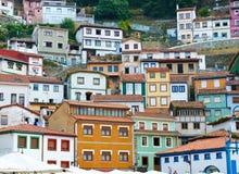 Maisons colorées à Cudillero, Asturies, Espagne Images stock