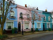 Maisons colorées à Londres Photo stock