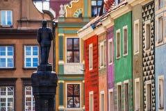 Maisons colorées à Poznan Photo stock