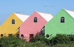 Maisons colorées Images libres de droits