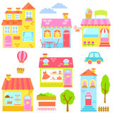 Maisons colorées Photographie stock