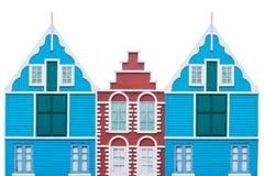 Maisons colorées Images stock