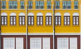 Maisons colorées Photos libres de droits