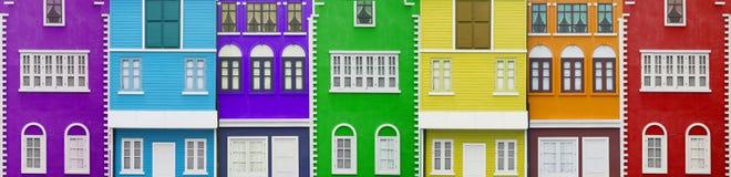 Maisons colorées Image libre de droits