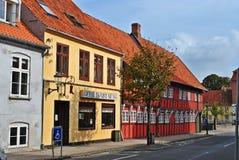 Maisons colorées au Danemark Images libres de droits