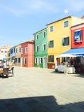 Maisons colorées Burano Image libre de droits