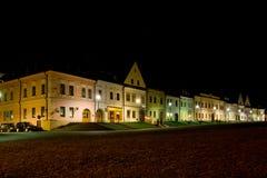 Maisons colorées dans Bardejov Image stock