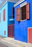 Maisons colorées dans les Caraïbe Photo stock