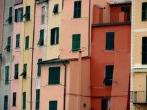Maisons colorées dans Portovenere Photo libre de droits