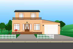 Maisons colorées de cottage Image libre de droits