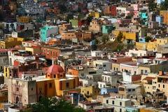 maisons colorées de guanajuato Photo libre de droits
