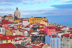 Maisons colorées de Lisbonne Image libre de droits