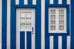Maisons colorées du Portugal Images libres de droits