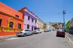 Maisons colorées et lumineuses de la BO-Kaap photographie stock libre de droits