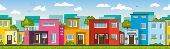 Maisons colorées modernes Photographie stock