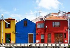 Maisons colorées traditionnelles à Aveiro Photographie stock libre de droits