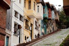 Maisons colorées traditionnelles Photo stock